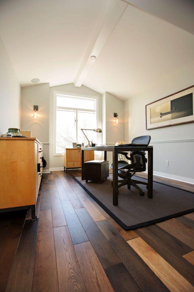 wood floor office. Lutsen Office Wood Floor